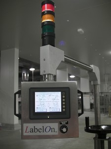 Labeler Rotating Controls with Status Tower