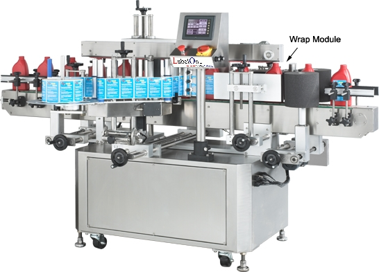 One Sided Labeler with Wrap Around Labeling